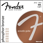 Fender 60L Phosphor Bronze Light Ball End Acoustic Guitar Strings .012-.053