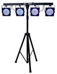 Chauvet 4BAR Lighting Kit Pack-n-Go DJ LED Wash Light w/ Footswitch
