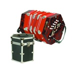 Mirage C7001 20 Button 40 Reed Concertina w/ Hard Case