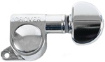 Grover 205C6 Mini Rotomatic Tuning Machines Guitar Tuners Inline 6 Chrome