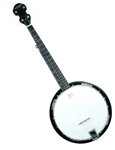 "Trinity River PRB75 ""Drifter"" 5-String 3/4 Size Kids Resonator Bluegrass Banjo w/ Carrying Bag"