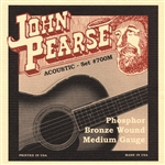 John Pearse 700M Medium .013-.056 Phosphor Bronze Acoustic Guitar Strings
