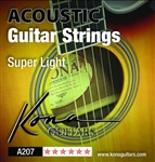 Kona Extra Light Acoustic Guitar Strings A207