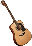 Washburn AD5K Dreadnought Acoustic Guitar with Hard Case