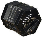 Trinity College AP-1120 Anglo-Style 20-Button Concertina - Black w/ Bag