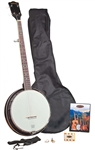 "Appalachian ""Pickin Pac"" Openback Open Back 5-String Banjo Package"