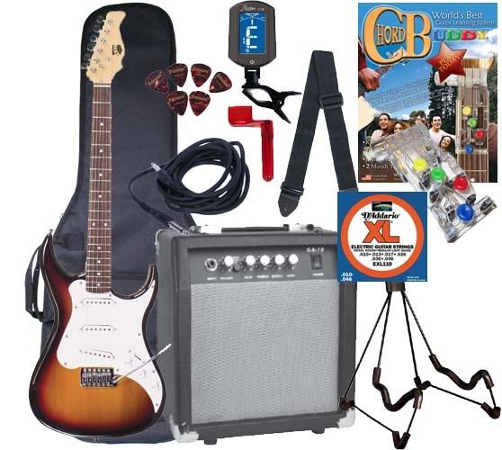 AXL SRO Headliner AS-750 Electric Guitar - Chord Buddy Starter ...