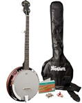 Washburn B8K 5-String Resonator Bluegrass Banjo Package - Starter Combo Kit