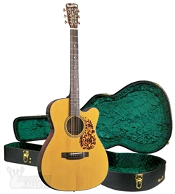 "Blueridge BR-143CE ""000"" Style Cutaway Acoustic Electric Guitar Historic Series with Hard Case"
