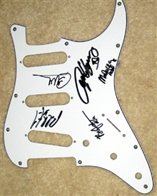 AC/DC Signed Autographed Strat Style Electric Guitar Pickguard 100% Authentic - All 5 Members