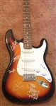 AEROSMITH Autographed Electric Guitar Steven Tyler and Band Authentic - Signed