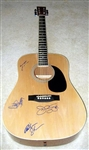 Bon Jovi Autographed Acoustic Guitar 100% Authentic - Signed by Band