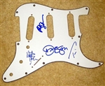 Bon Jovi Signed Autographed Strat Style Electric Guitar Pickguard 100% Authentic - Signed by Band