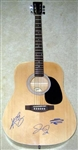 Jonas Brothers Autographed Acoustic Guitar - Signed by Kevin, Joe, Nick