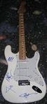 Motley Crew Vince Neil Tommy Lee Autographed Strat Style Electric Guitar 100% Authentic - Signed by Band