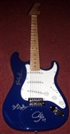 The Police, Sting Autographed Strat Style Electric Guitar 100% Authentic - Signed by Band