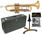 E.K. Blessing BTR-ML1 Artist Series Trumpet Bb Lacquer w/ Hard Case Stand Care Package