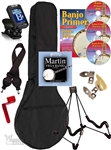 Banjo Accessory Package - Bag, Stand, Tuner, Strings, Picks, DVD, Strap