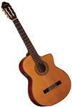 Washburn C64SCE Cutaway Spruce Top Classical Acoustic Electric Guitar