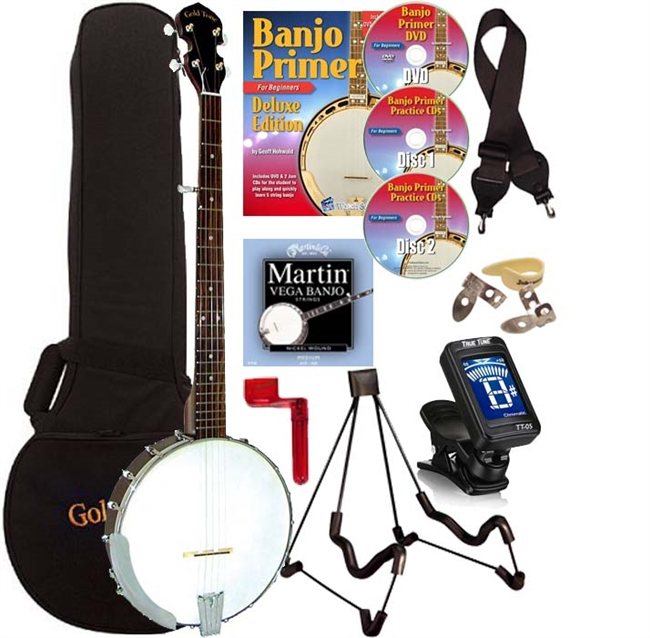 Gold Tone CC-50 5 String Open Back Banjo Package