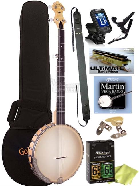 Gold Tone CC-CARLIN12 5-String Bob Carlin Open Back Banjo Package