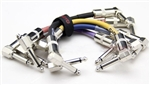 "Joyo CM-11 6"" Guitar Effects Pedal Patch Cables - Set of 6 Cable Bundle in Various Colors"
