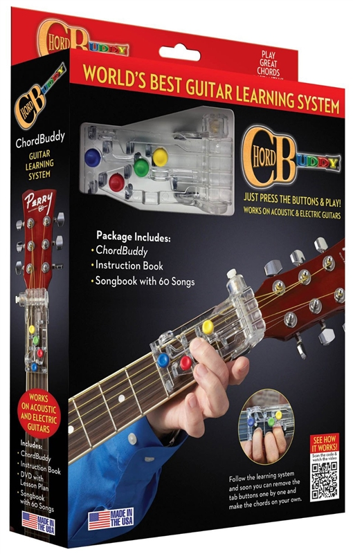 Chord Buddy Guitar Teaching Learning System Practice Aid W True