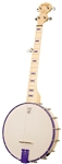Deering Goodtime JR. Banjo 5 String Travel, Kids Open Back Junior Banjo Openback - Sinbad Purple