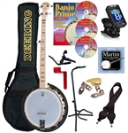 Deering Goodtime 2 Banjo Package Maple Resonator Goodtime Two Combo
