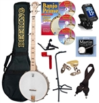 Deering Goodtime Openback Banjo Package 5-String Open Back Combo