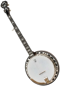 Deering Sierra 5 String Professional Resonator Banjo - Maple w/ Case. Free Case, Setup and Shipping!
