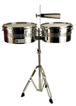 "Coda DP-420 13 and 14 Inch Timbales w 7"" Cowbell"