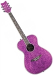 Daisy Rock Pixie 14-6205 Acoustic Guitar - Pink Sparkle