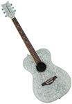 Daisy Rock Pixie 14-6206 Acoustic Guitar - Silver Sparkle