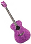 Daisy Rock Pixie Acoustic/Electric Guitar Pink Sparkle 14-6225