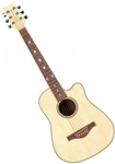 Daisy Rock Wildwood 14-6261 3/4 Size Short Scale Acoustic Guitar Bleach Blonde