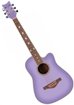 Daisy Rock Wildwood 14-6262 3/4 Size Short Scale Acoustic Guitar Purple Daze