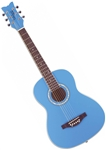 Daisy Rock Debutante Jr. Acoustic Guitar - Cotton Candy Blue 14-7402