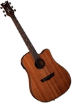 Dean AXS Series Drednought Cutaway Acoustic-Electric Guitar - Mahogany AX DCE MAH