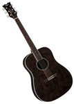 Dean AXS Series Quilt Ash Acoustic Guitar in Trans Black