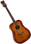 Dean AXS Series Quilt Ash Acoustic Guitar in Tobacco Sunburst - AX DQA TSB