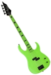Dean Custom Zone Solid Body Electric Bass Guitar in Nuclear Green