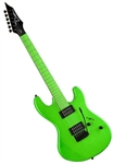 Dean Custom Zone Solid Body Electric Guitar with 2 Humbuckers in Florescent Green