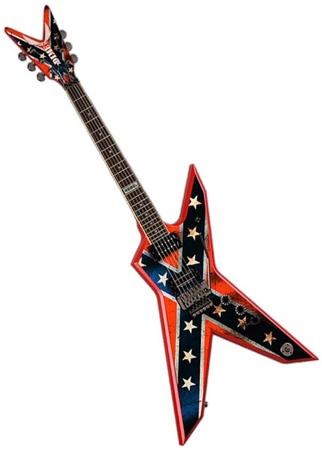 dean dimebag dixie rebel electric guitar w case free shipping case pedal. Black Bedroom Furniture Sets. Home Design Ideas