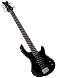 Dean Edge 09 5 String Bass Guitar in Classic Black