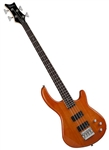 Dean Edge 1 4-String Electric Bass Guitar in Trans Amber