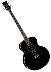 Dean Acoustic Electric Bass Guitar in Classic Black