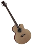 Dean EABC Cutaway Acoustic Electric Bass Guitar in Satin Natural