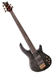 Dean Edge Pro 5 String Electric Bass Guitar w/ Hard Case in Trans Black