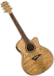Dean Exotica Quilt Ash Acoustic Electric Guitar EQA GN Gloss Natural